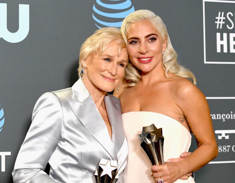Glenn Close e Lady Gaga ai Critics' Choice Awards