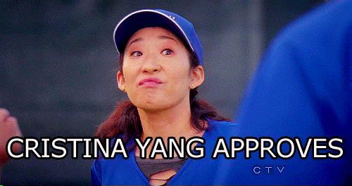 Cristina Yang approves