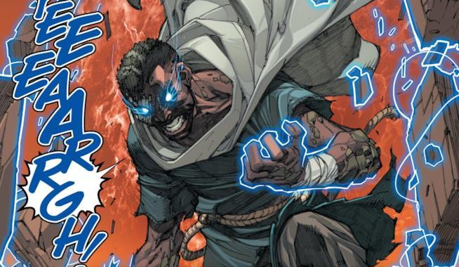 Flint in una scena di Inhumans #3