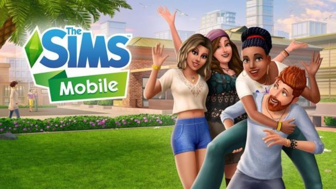 Il banner ufficiale di Sims Mobile per iOS e Android