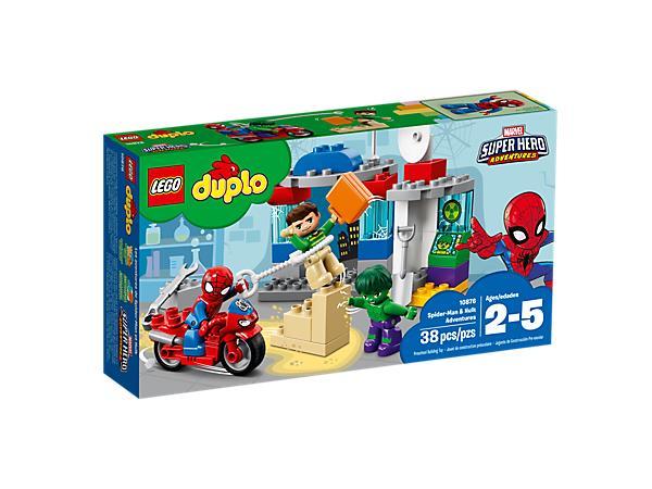 Dettagli del box del set Le avventure di Spider-Man e Hulk di LEGO