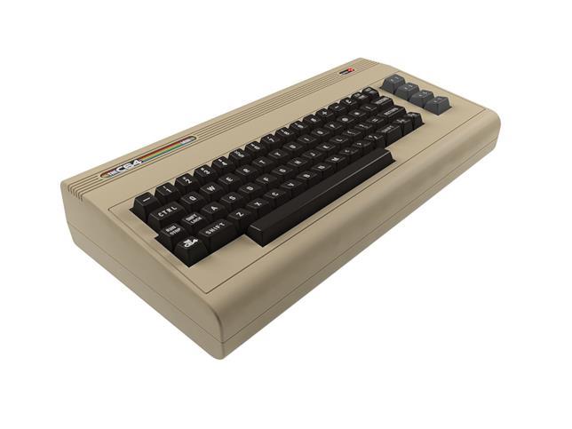 Un primo piano della console THEC64 Mini