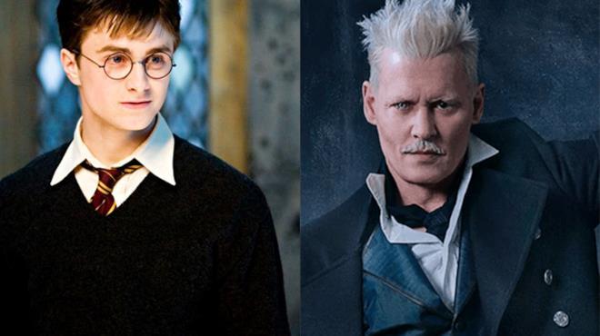 Daniel Radcliffe in Harry Potter e Johnny Depp in Animali Fantastici 2