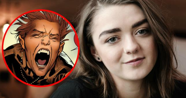 Maisie Williams si prepara a trasformarsi in Wolfsbane in New Mutants