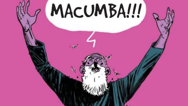 Il barbone del fumetto Macumba di Iacono