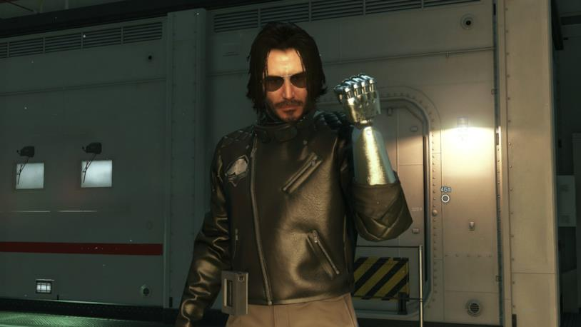 Keanu Reeves nei panni di Johnny Silverhand in Metal Gear Solid V