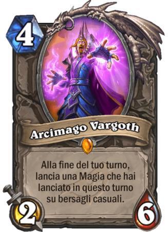 La nuova carta Arcimago Vargoth dell'espansione L'Ascesa delle Ombre di Hearthstone