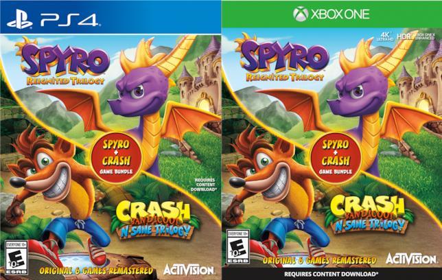 La possibile boxart del bundle dedicato a Spyro e Crash
