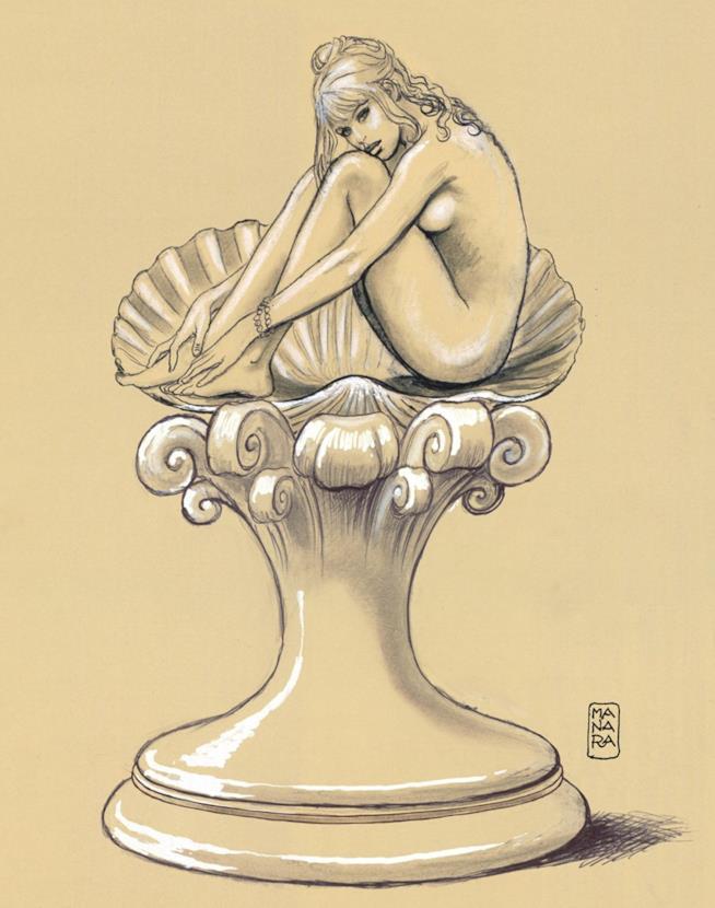 Bozza di Milo Manara per la statua della Bardot