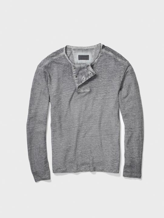 GoT: maglia scollo Henley grigio chiaro John Varvatos