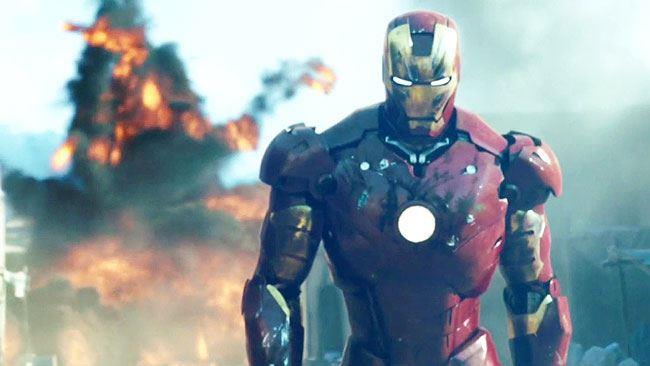 Iron Man in una scena del film omonimo del 2008