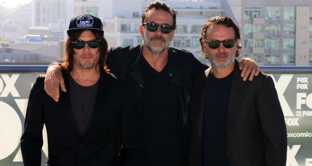 Il trio di protagonisti di The Walking Dead