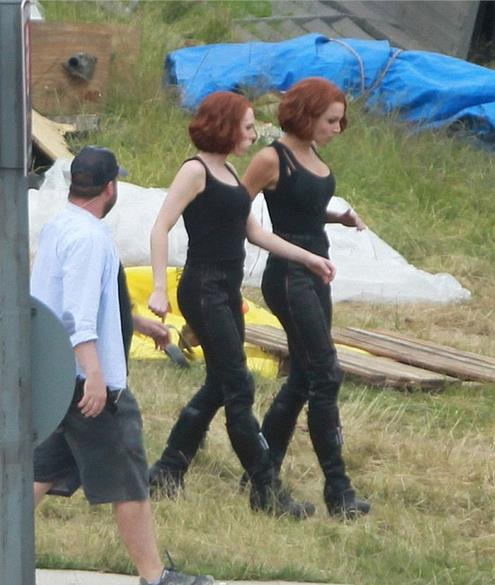 Attori Marvel e i loro stunt double: Scarlett Johansson e Heidi Moneymaker