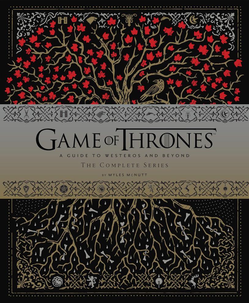 La copertina di Game of Thrones: A Guide to Westeros and Beyond completa della fascia che indica autore e titolo