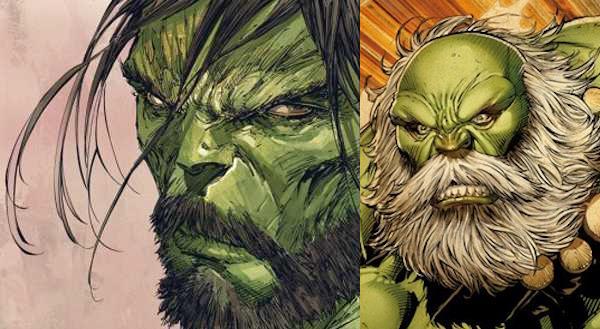 Hulk con la barba nei comics