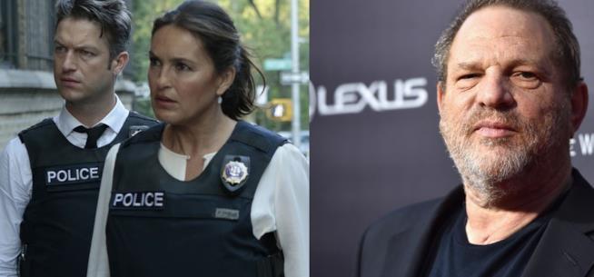 Harvey Weinstein e i protagonisti di Law & Order