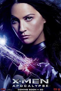 Un poster del film con il primo piano di Psylocke