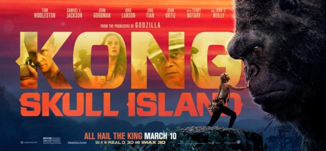 Banner pubblicitario di Kong: Skull Island