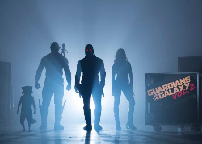 I protagonisti di Guardiani della Galassia Vol.2 in una foto di scena