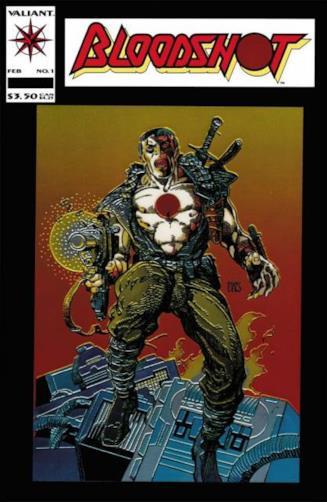 Copertina del n.1 di Bloodshot, pubblicato da Valiant Comics