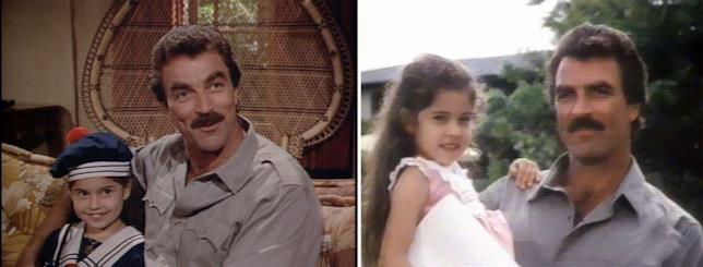Thomas Magnum e la figlia Lily nella serie degli anni '80