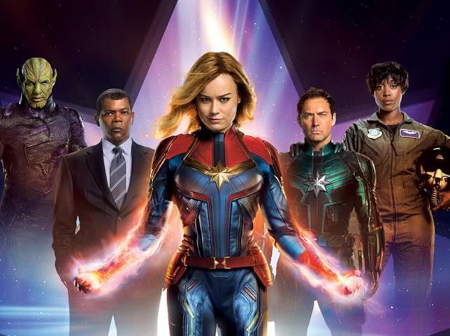 Poster dedicato a Captain Marvel per Total Film