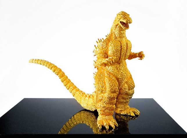 Godzilla 60esimo anniversario statua in oro