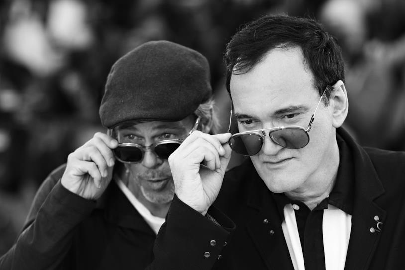 Brad Pitt e Quentin Tarantino in posa per i fotografi