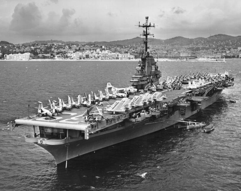 La nave da guerra USS Lake Champlain