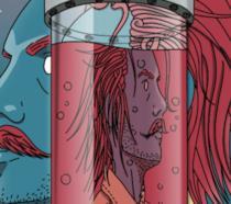 La copertina del fumetto sul Baffo