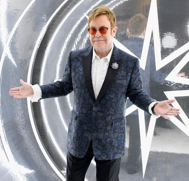 Primo piano di Elton John