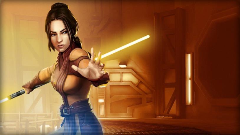 La Jedi Bastila Shan pronta a combattere con i poteri della Forza