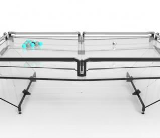 Il tavolo da biliardo in vetro realizzato da Elite Innovations