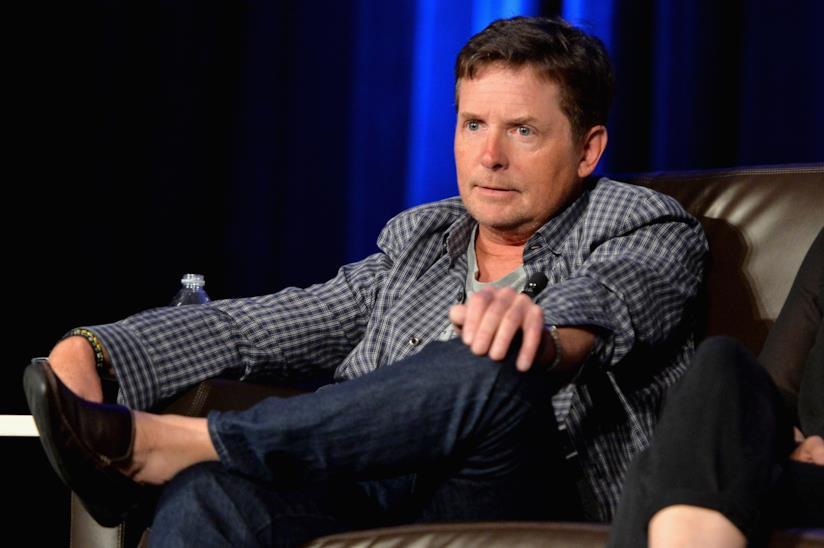 Michael J. Fox durante una convention
