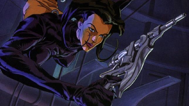 La protagonista nella serie animata di Aeon Flux