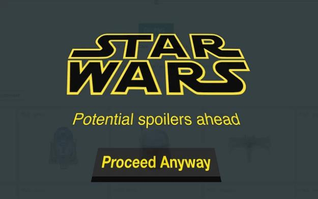 Schermata di Star Wars Spoiler Blocker