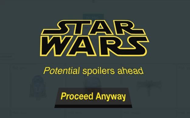 Schermata di Star Wars Spoiler Blocker