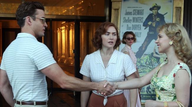 Kate Winslet, Juno Temple e Justin Timberlake nel film Wonder Wheel