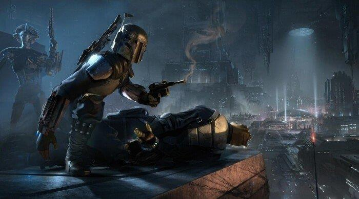 Boba Fett in un artwork di Visceral Games' Star Wars