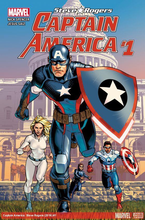La cover del primo nimero di Capitan America: Steve Rogers