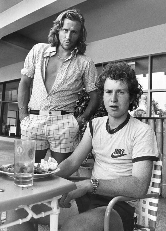 Borg e McEnroe in uno scatto di fine anni '70