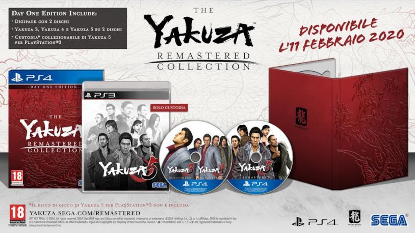 Yakuza remastered versione fisica