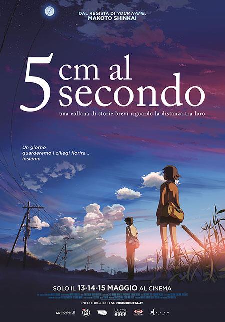 La locandina del film di Makoto Shinkai, 5 cm al secondo