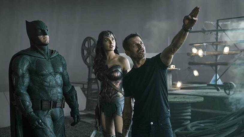 Zack Snyder sul set di Justice League