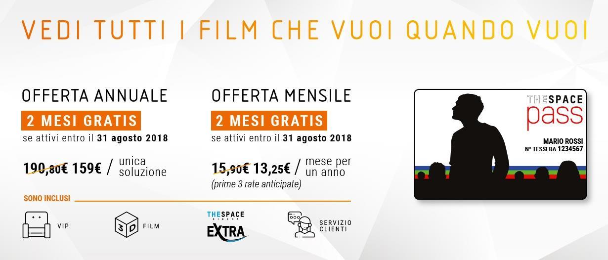 The Space Pass: l\'abbonamento 15,90 euro/mese per vedere film senza ...