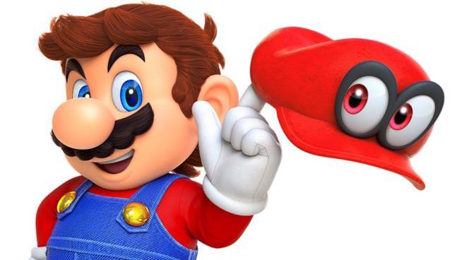 Mario impugna il suo cappello rosso in uno scatto ufficiale di Super Mario Odyssey