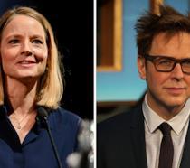 Jodie Foster e James Gunn ritratti in due occasioni ufficiali