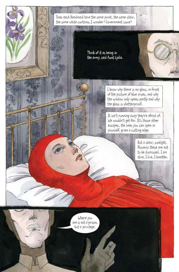 Pagina 10 del graphic novel The Handmaid's Tale