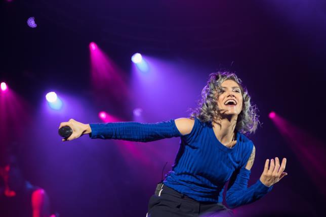 L'entusiasmo della cantante friulana.