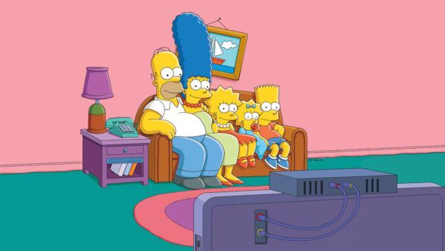 I Simpson sul famigerato divano
